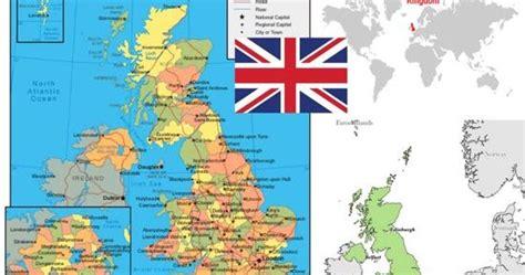 peta  profil negara inggris united kingdom