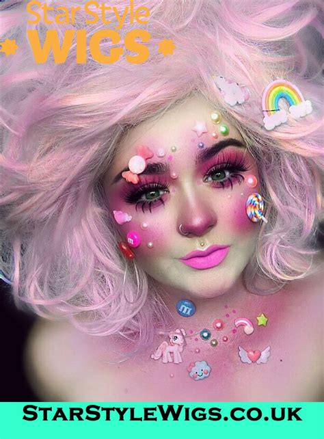 cotton candy pink wig   cotton candy hair pink cotton candy candy makeup
