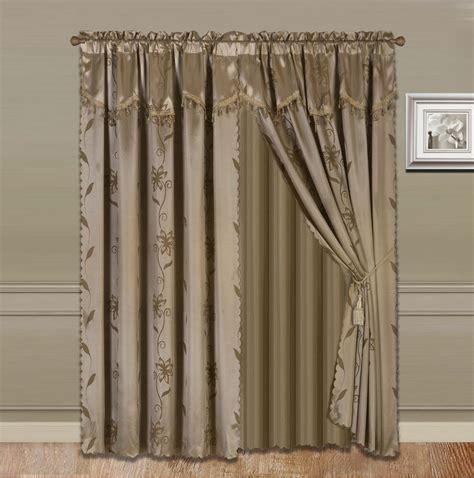 Drapes Sizes - 4pc valance panel sheer rod pocket window curtain 4 sizes