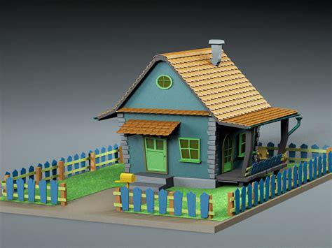 Polygon 3d Cartoon House