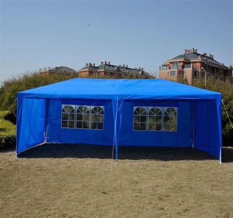 blue gazebo party tent canopy