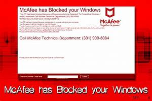 Remove Mcafee Has Blocked Your Windows  Support Scam Virus