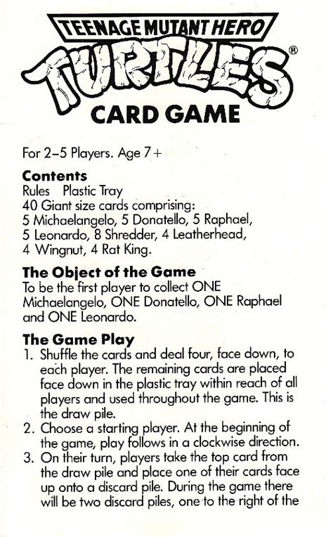 You can play this game with anywhere from 2 to 6 players. TMHT Card Game - TMNT Cards - The Technodrome