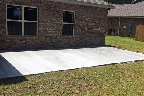 wood decks concrete slabs patio covers car ports