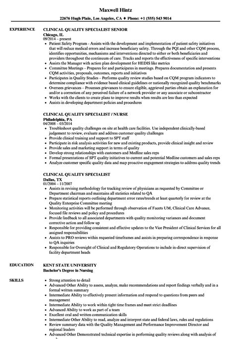 clinical specialist resume www oscarsfurniture