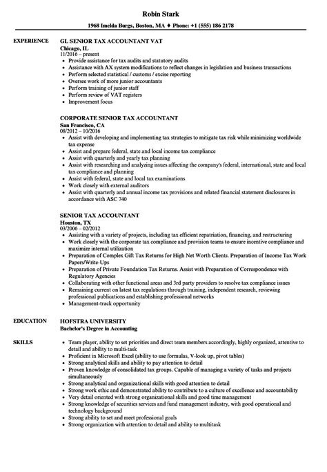 Tax Accountant Resume by Senior Tax Accountant Resume Sles Velvet