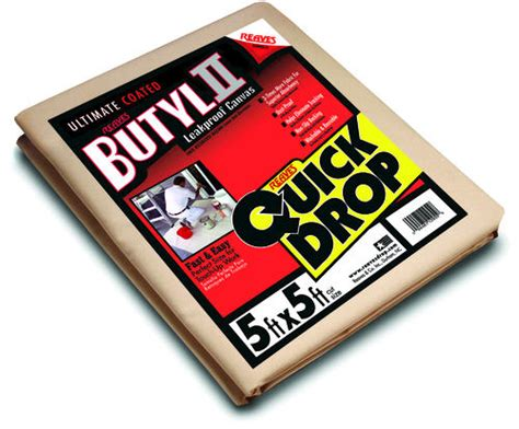 menards canvas tarps butyl ii drop 5 x 5 leakproof canvas drop cloth 4063