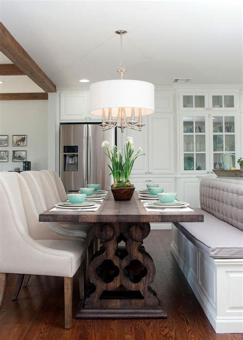 Kitchen Office Combo by Fixer Bench Island Seating Photos Hgtv S Fixer