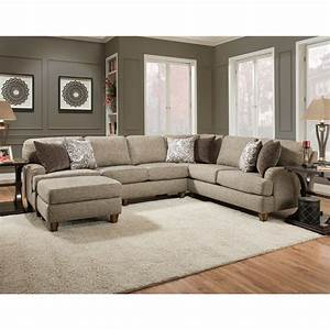 Franklin brannon sectional sofa with 5 seats virginia for Sectional sofas virginia