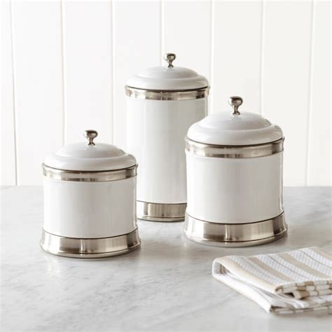 canister sets for kitchen ceramic williams ceramic canisters set of 3 williams sonoma