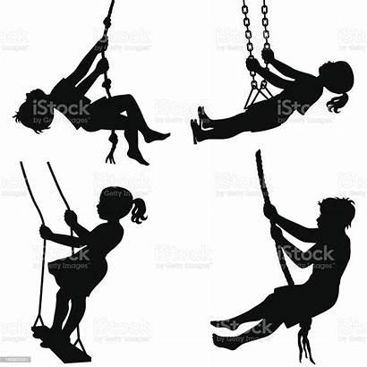 Swings Swing Schaukel Clip Silhouette Rope Tattoo