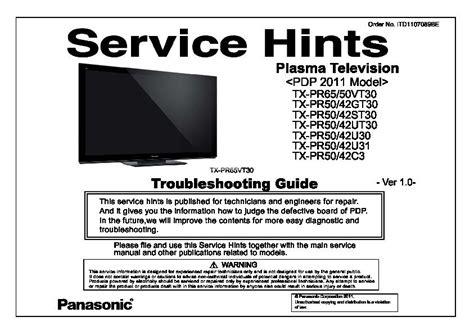 Panasonic Tx-p50st30e, Tx-p50st30j, Tx-pf50st30, Tx