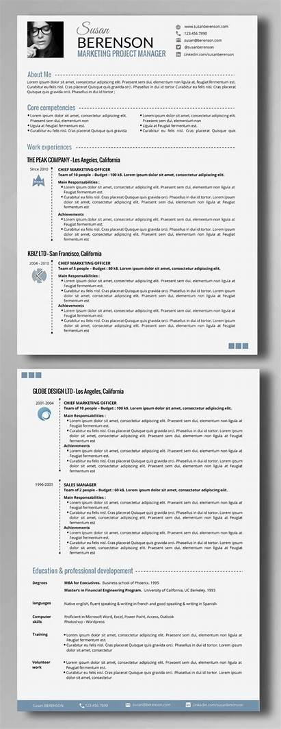 Cv Resume Pages Professional Smart Vitae Template