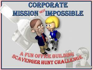 Corporate Office Scavenger Hunt Game My Mystery Party