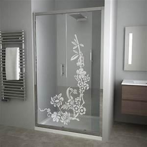 stickers depoli pour fenetre adhesif decoratif sticker With porte de douche coulissante avec panneau décoratif mural pour salle de bain