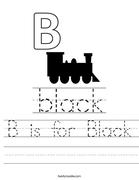 black worksheet b is for black worksheet twisty noodle