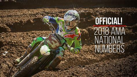 ama motocross riders 2018 ama motocross supercross national rider numbers
