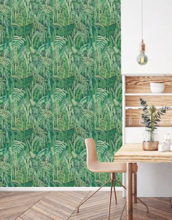 Wallpaper designed by Lucy Tiffney Palm Lagoon Mr Bear