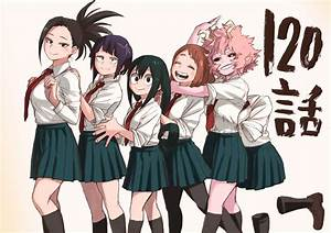Anime, My, Hero, Academia, Black, Hair, Blush, Brown, Hair, Girl, Hug, Kyouka, Jirou, Long, Hair, Mina