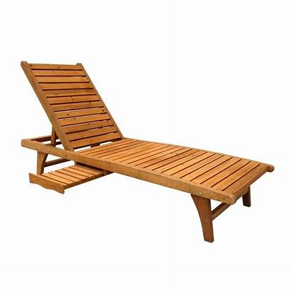 Chaise Lounge Patio Outdoor Wood Furniture Chair