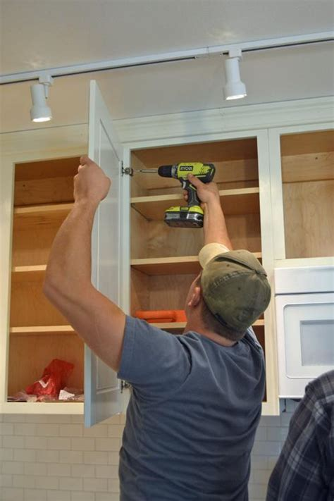 Hanging Kitchen Cabinet Doors with Concealed Euro Hinges