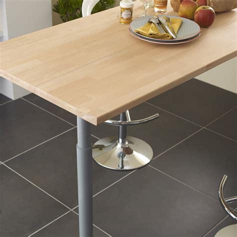 monter une cuisine brico depot plan de travail bois hêtre brut mat l 250 x p 65 cm ep 26
