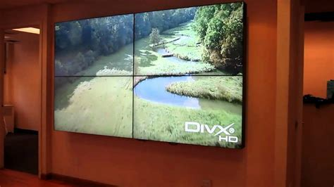 "Primeview 55"" LCD Video Wall   Super Thin Bezel   YouTube"