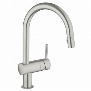 Grohe Minta Supersteel : grohe minta single handle pull down sprayer kitchen faucet ~ Watch28wear.com Haus und Dekorationen