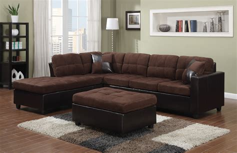 black leather sectional with ottoman left sided sectional sofa contemporary black leather