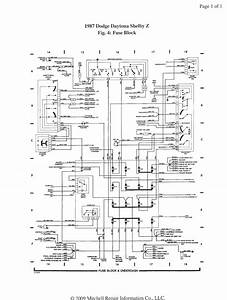 Free Auto Wiring Diagram  1987 Dodge Daytona Shelby Z Fuse