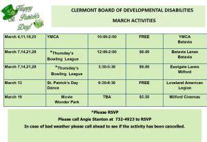 calendar clermont county board developmental disabilities