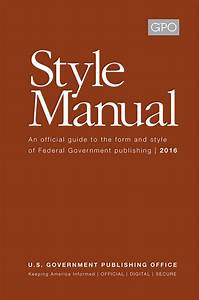 United States Government Publishing Office Style Manual