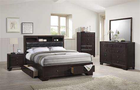 storage bedroom furniture noma collection merlot platform storage bedroom 13400