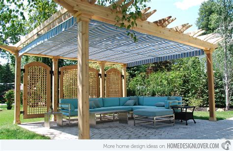 15 cozy outdoor spaces with fabric canopy home design lover