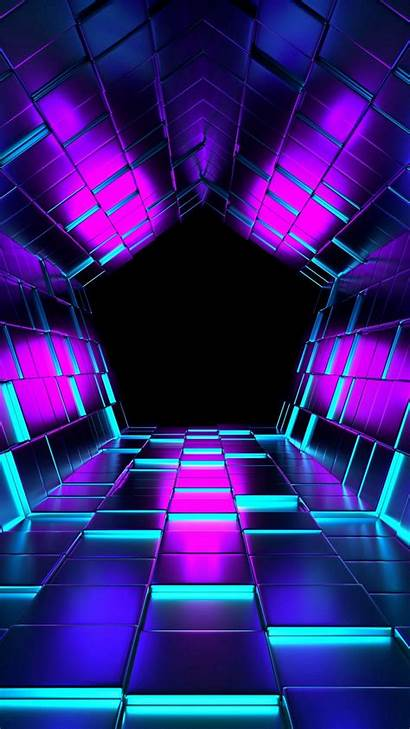 Tunnel Purple Abstract Wallpapers Ubes Rendering Pattern