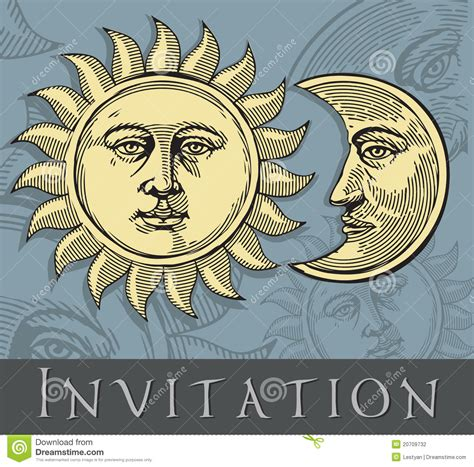 vector illustration  moon  sun stock photography