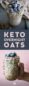 keto overnight quot oats quot with coconut and blueberries