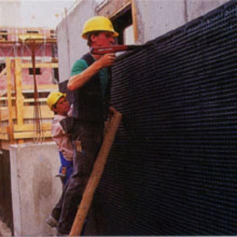 nappes de protection et drainage pour murs de soubassement