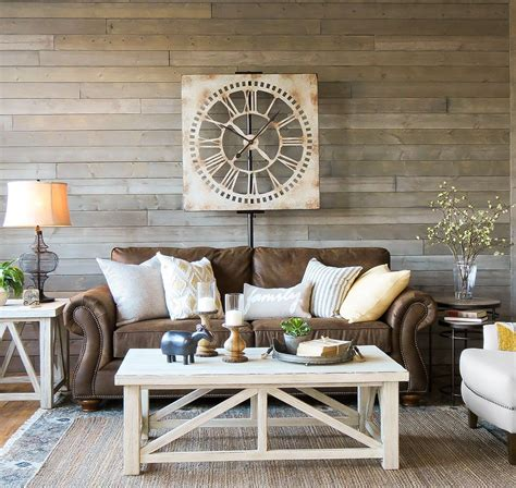 Living Room Brown Sofa by A Farmhouse Living Room That Will Make You Want A Brown