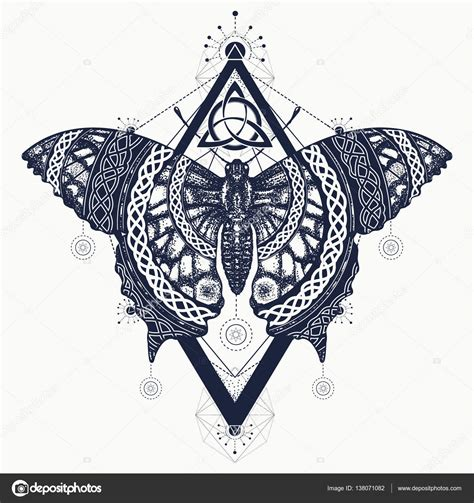 butterfly tattoo art celtic style mystical symbol