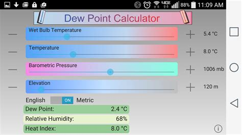 dew point calculator 1 4 android apps on play