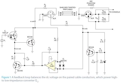 Condenser Microphone Uses Coupled Impedance Converter Edn