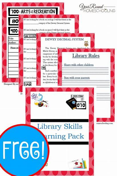 Library Printable Skills Lesson Pack Plans Fun