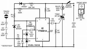 Touch Dimmer Switch Project Circuit