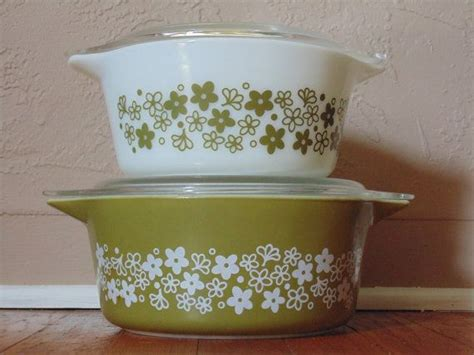 corningware flower pyrex bowls cookware brands flowers dishes favorite etsy winter brand
