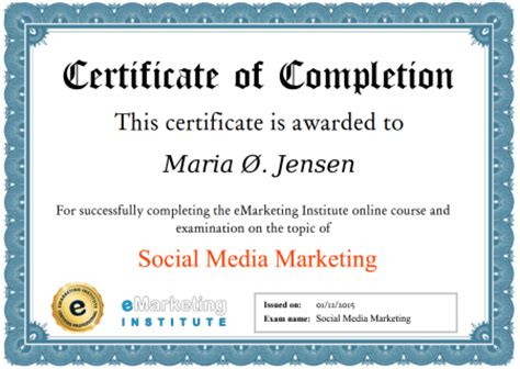 social media marketing certification free 100 free social media marketing course certification