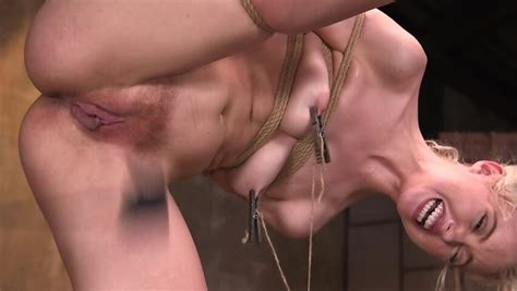 Tied Up Blonde Fucked In Tight Vagina In Domination Porn