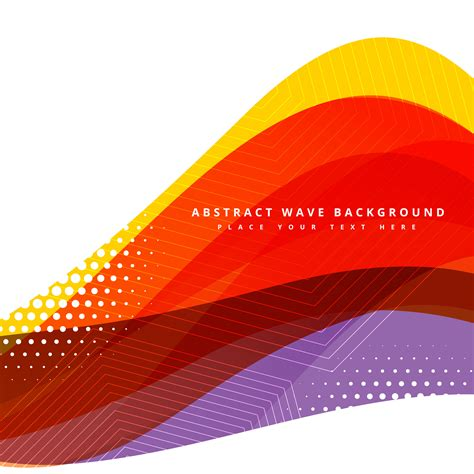 Colorful Abstract Vector Wave Background Design Download