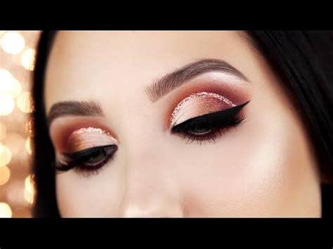 warm glitter cut crease tutorial jaclyn hill youtube