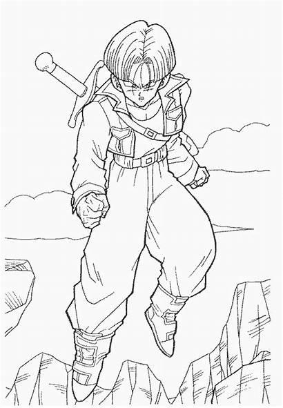 Trunks Guerreiro Dragon Ball Coloring